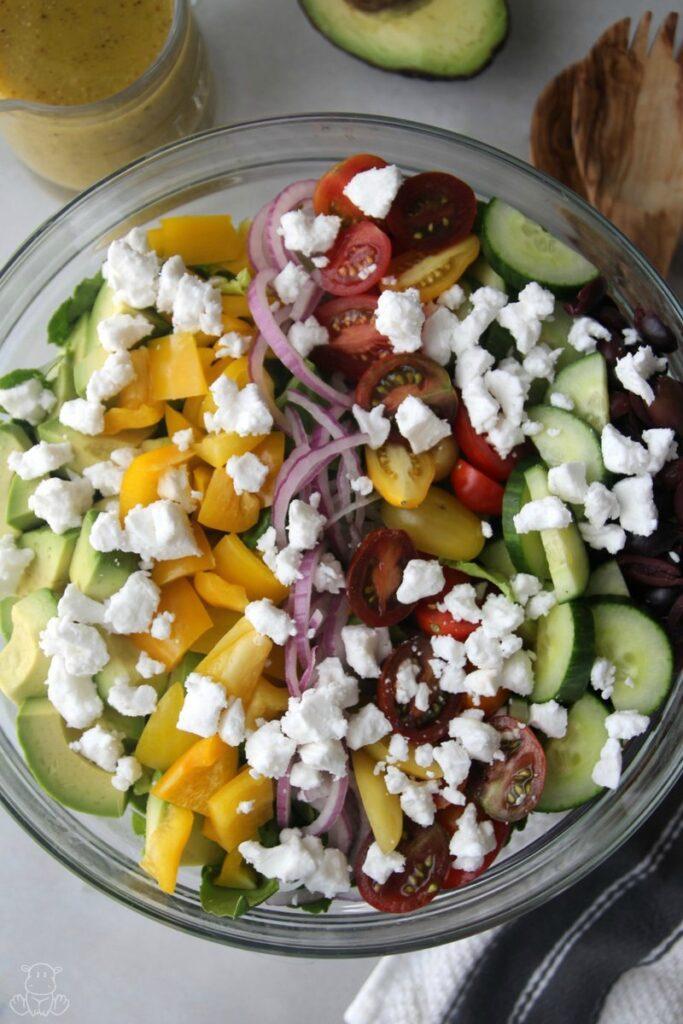 greek salad recipe dressing