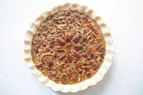 How to Make Pecan Pie add the filling