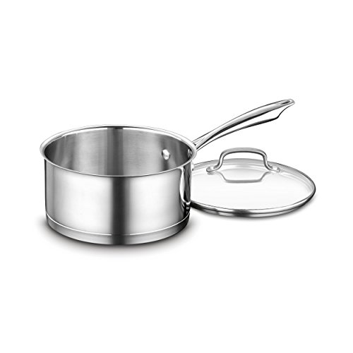 Cuisinart 3-QT Stainless Steel Saucepan with Glass Lid