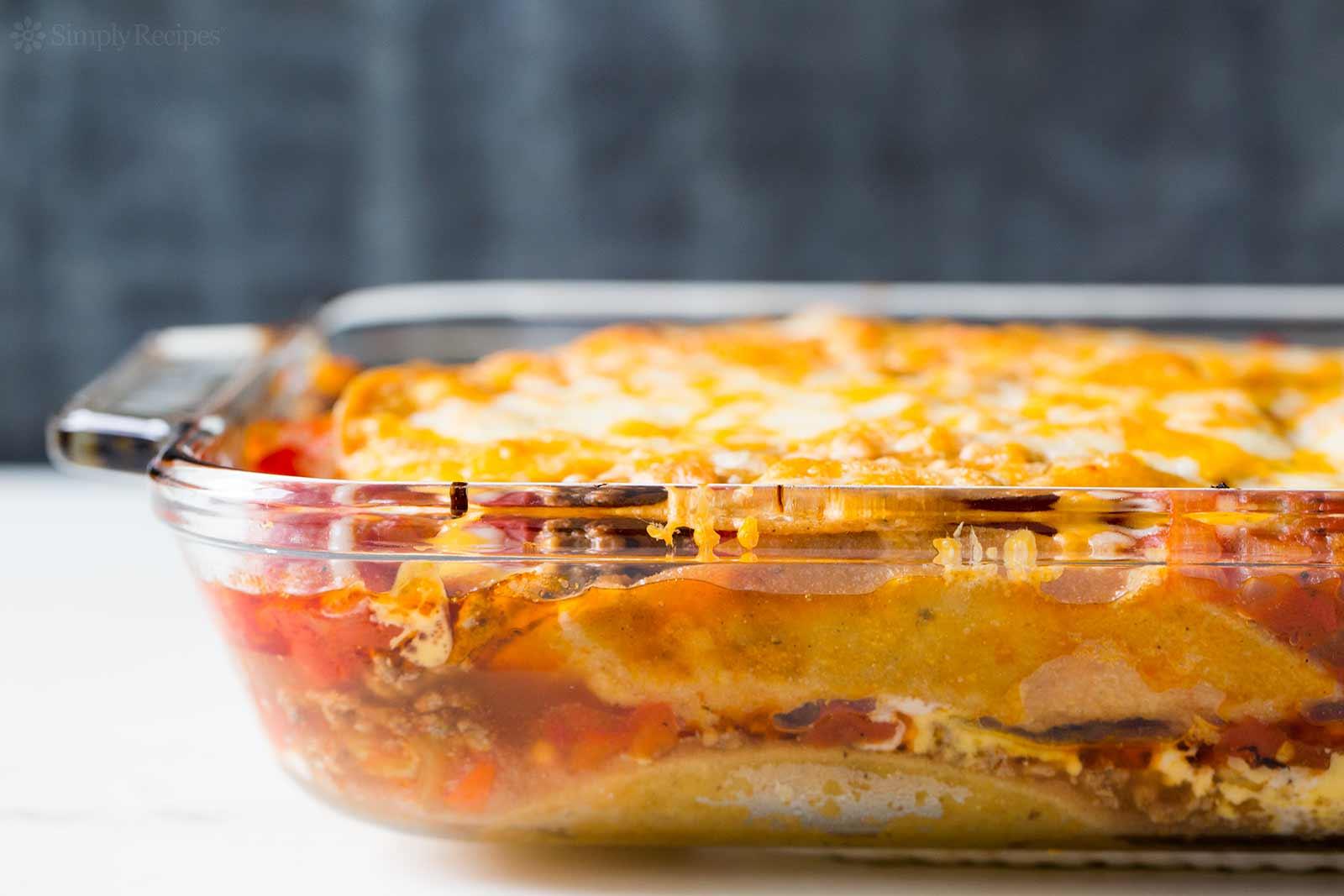 Mexican Lasagna or taco lasagna recipe