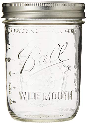 Wide-mouth Pint Canning Jars