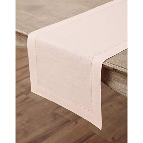 Linen Table Runner in Blush