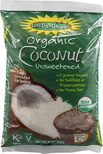 Grated Coconut, Unsweetened 8 oz (2 pack)