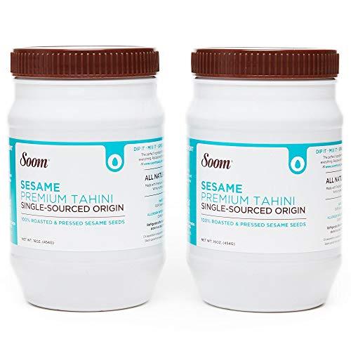 Soom Foods Pure Ground Sesame Tahini, 16 OZ (2-pack)