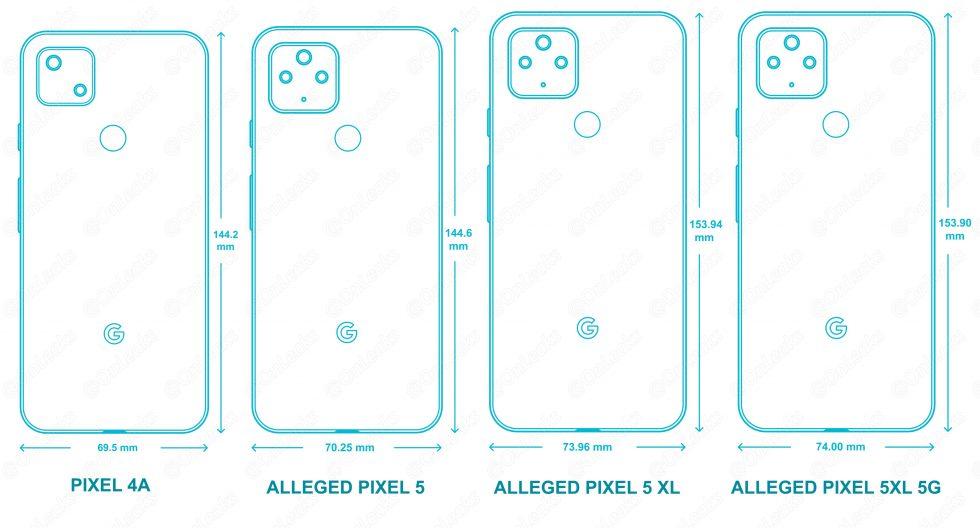 Pixel 5 CAD Renders