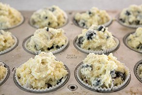 fill in muffin cups
