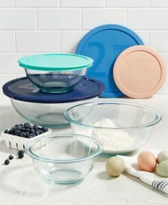 Pyrex 8-Pc. Glass Mixing Bowl Set